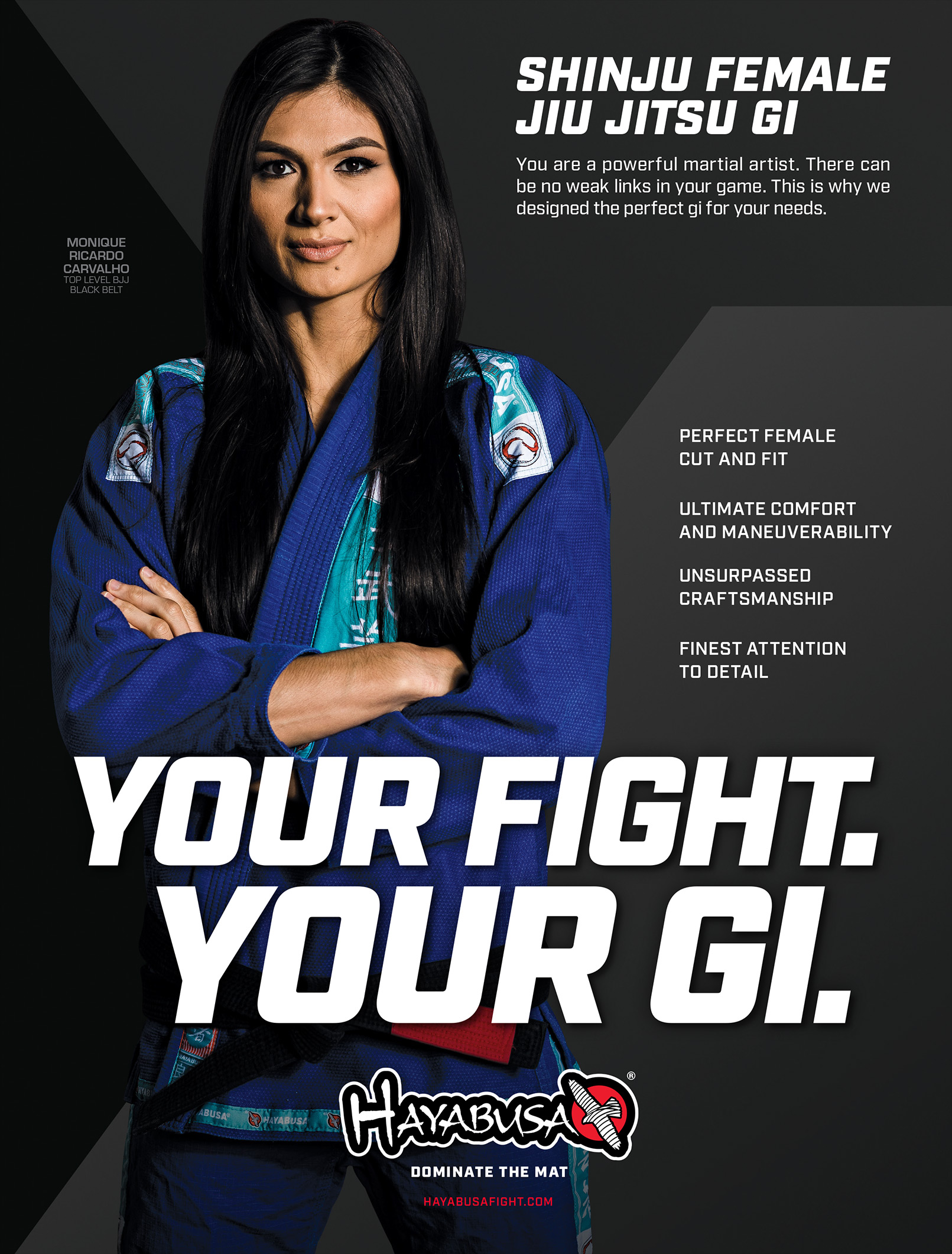 Hayabusa - GracieMag - 1pAd - Female Gi
