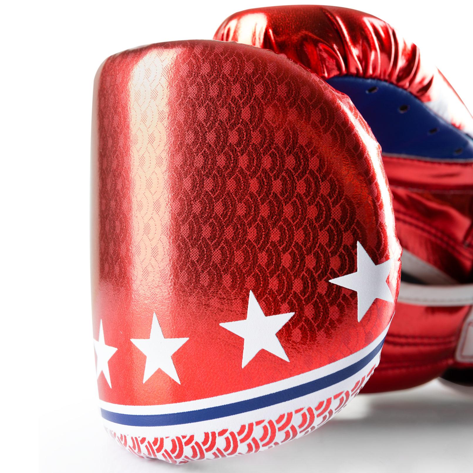 Muay Thai Gloves - texture - red