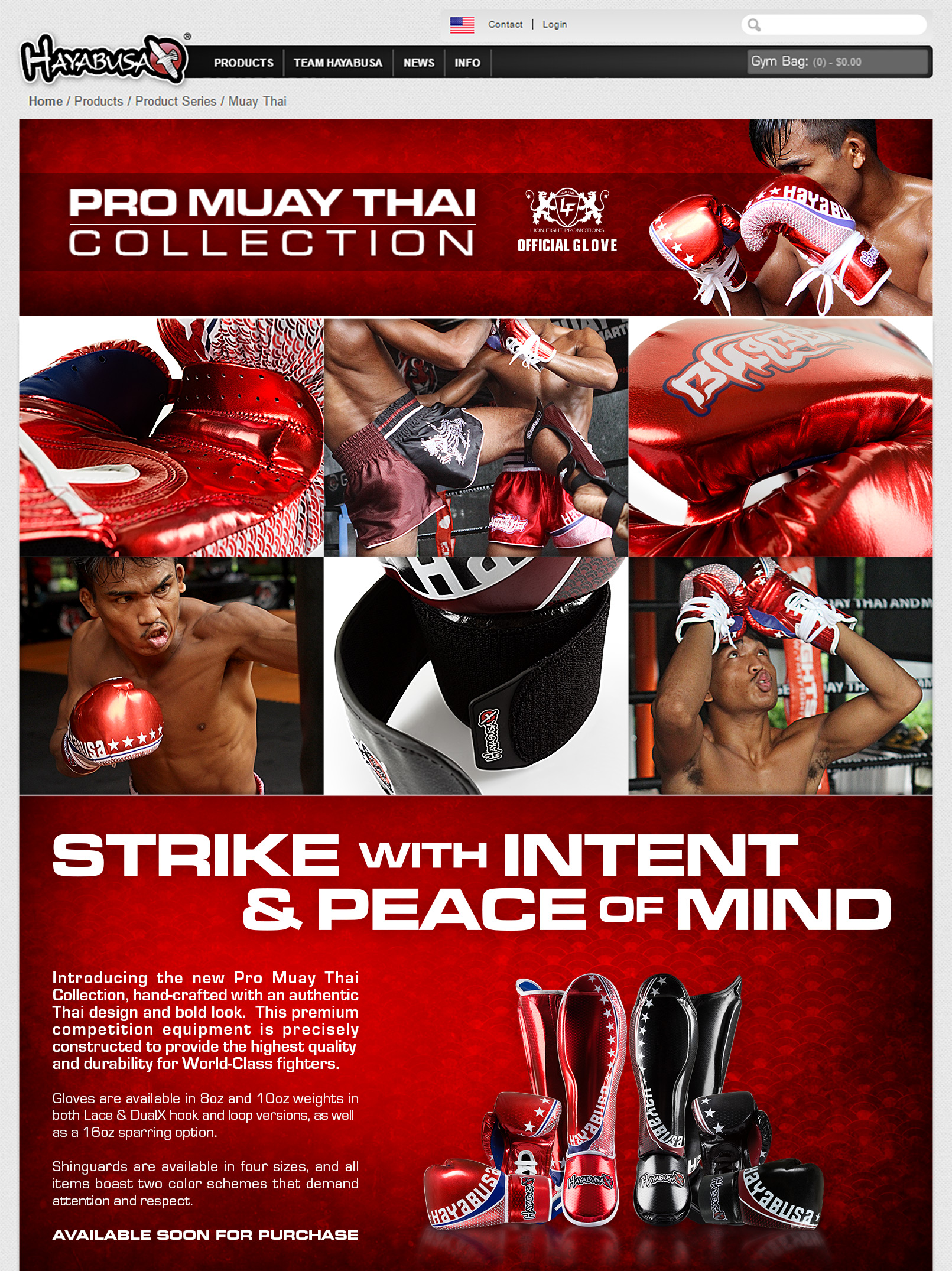Pro Muay Thai - Product Page - old website