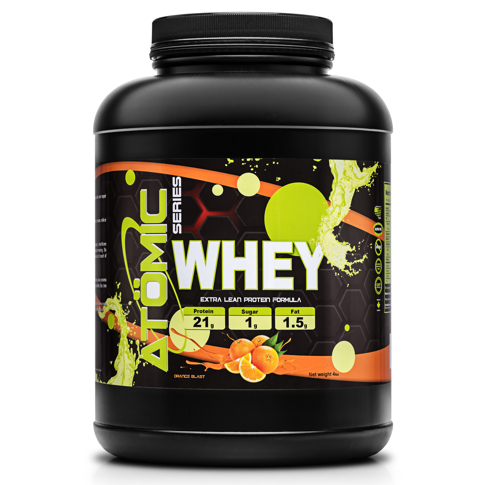 Atomic Series WHEY - Orange Blast