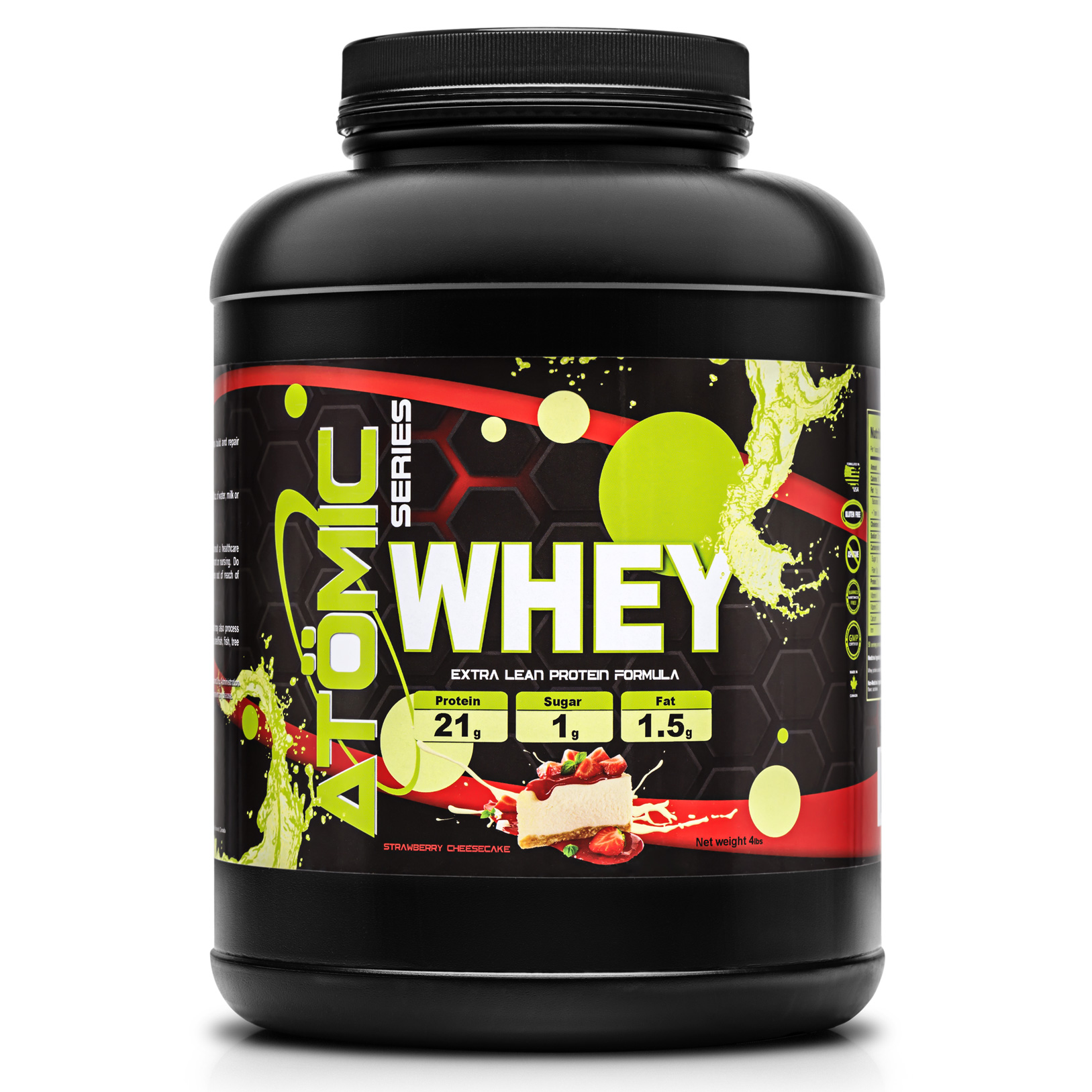 Atomic Series WHEY - Strawberry Cheesecake