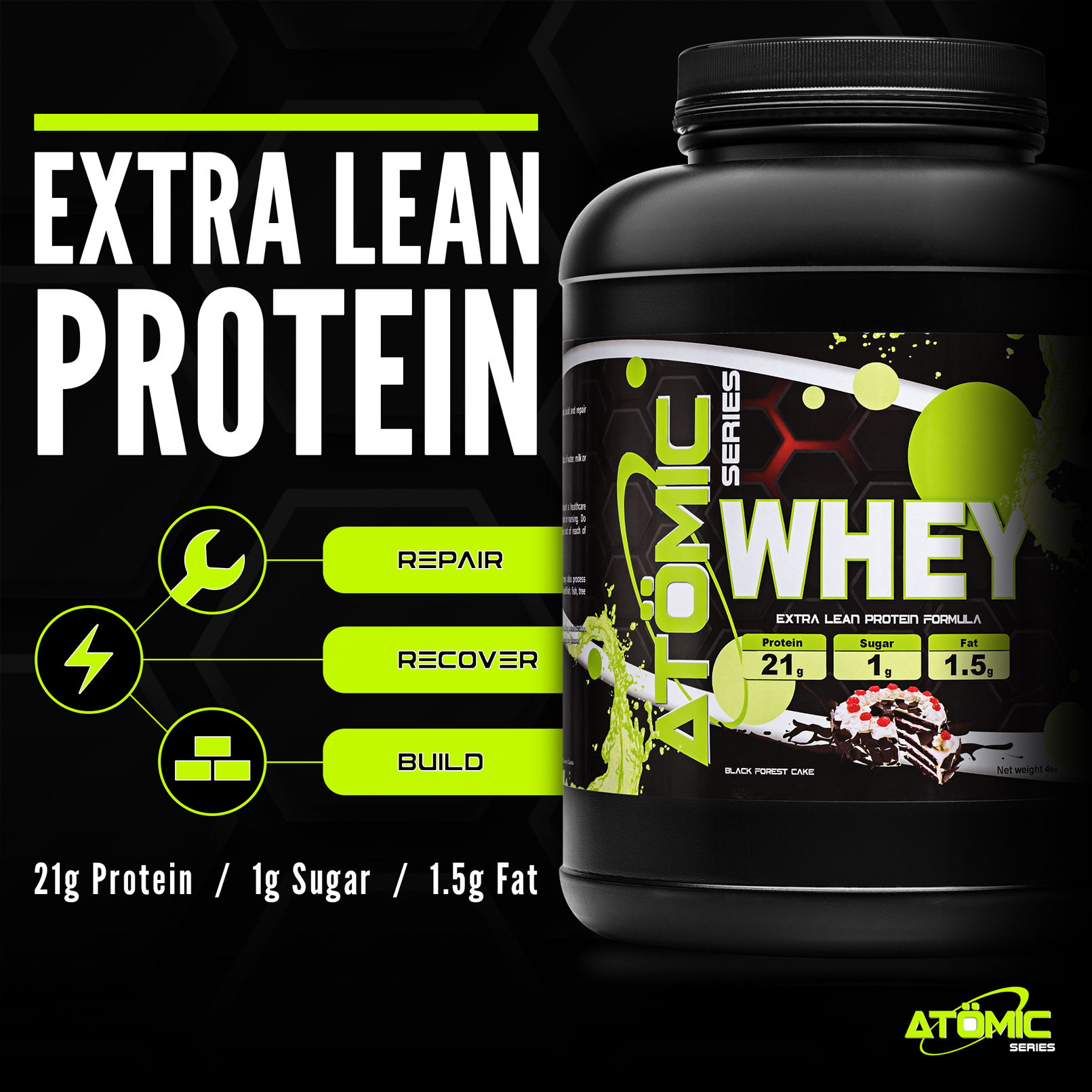 WHEY Infographic - Extra Lean Protein